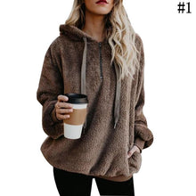 Load image into Gallery viewer, Women Winter Warm Plush Hoodies