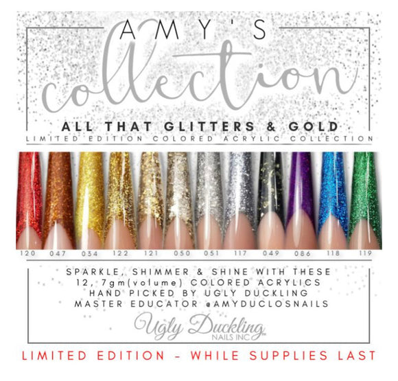 AMY'S ALL THAT GLITTERS AND GOLD -COLOURED ACRYLIC COLLECTION