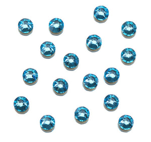 CLEAR AS MUD GENUINE CRYSTAL RHINESTONES- ROUND FLATBACK COLOURS