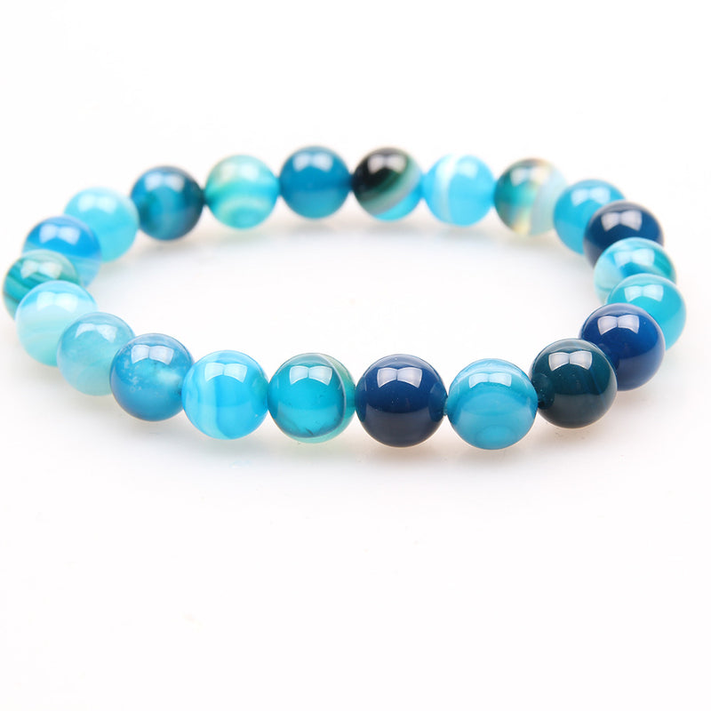 Blue Stripe Agate 10mm Stacker