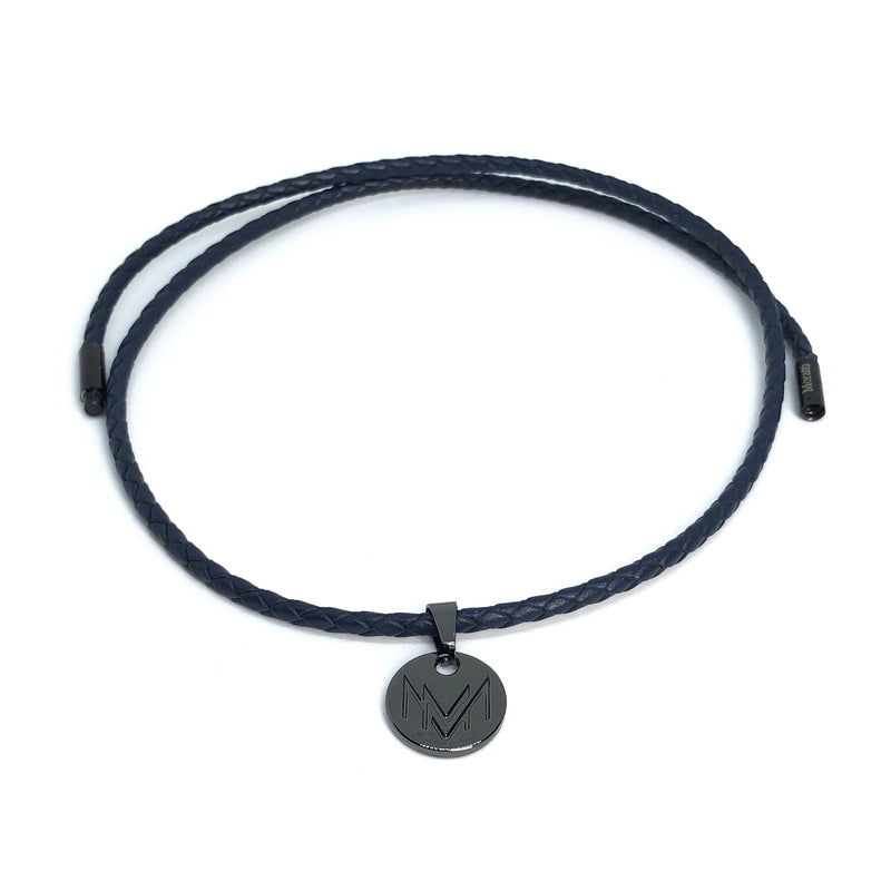 gray leather bracelet