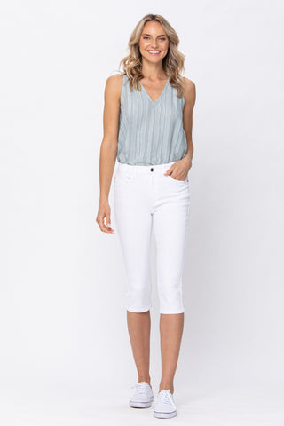 Judy Blue Pearly White Capris