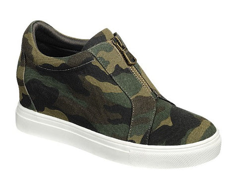 Awesome Ankle Sneaker Booties - Camo Canvas