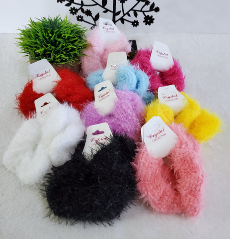 Two Piece Fuzzy Scrunchie Set - Assorted