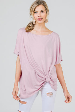 Axis Boat Neck Tunic Top - Rose