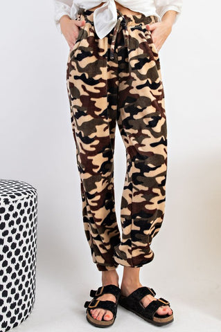 Easel Oh So Soft Fleece Camo Jogger Pants