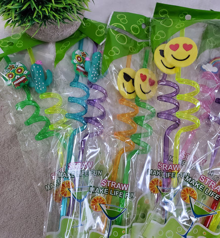 Spiral Straw Sets - Assorted