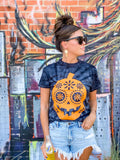 OO Dia Del Pumpkin Graphic Tee - Midnight