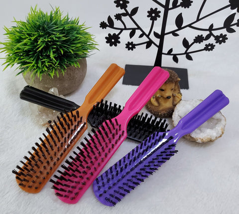 Boar Bristle Smoothing Hair Brushes - Assorted