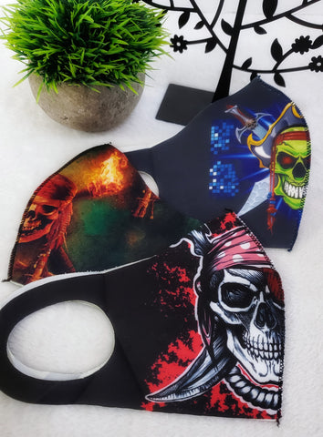 Pirate Skull Smile Shields - Assorted