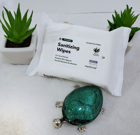 Sanitizing Wipes Travel Pack - Aloe & Vitamin E