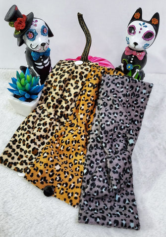 Animal Print Button Headbands - Assorted
