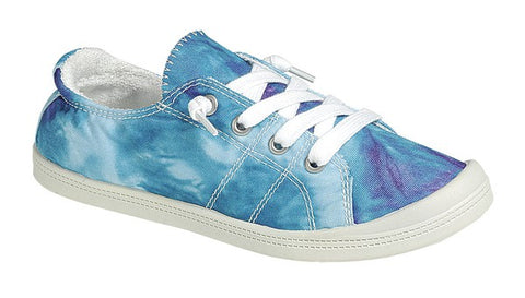 Tie Dye Comfort Tennies - Aqua Multi