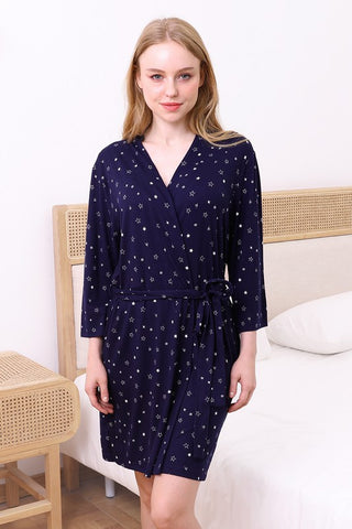 Ninexis Sleepwear Robe - Navy Star