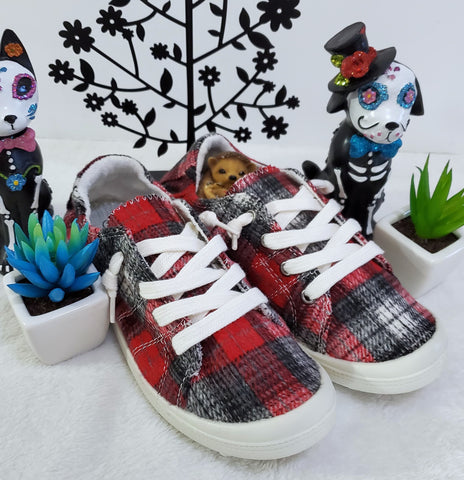 Forever Comfort Tennies - Red Plaid