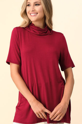 Blumin Smile Shield Tunic Top - Burgundy