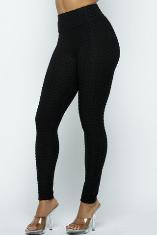 G2 Solid Bubble Leggings - Black