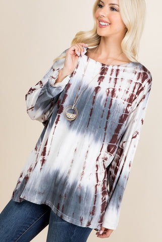 Zia Bamboo Dye Loose Fit Top - Grey
