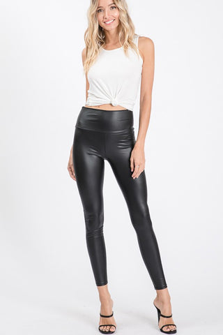 Heimish Faux Leather Leggings - Black