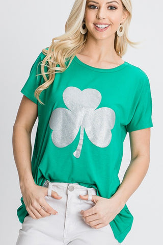 Heimish Shamrock Tunic Top - Green