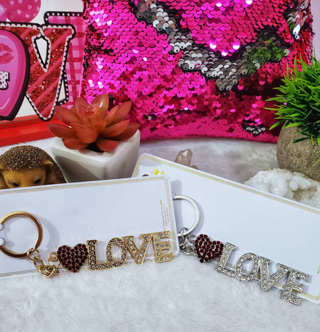 Love Bling Keychains - Assorted
