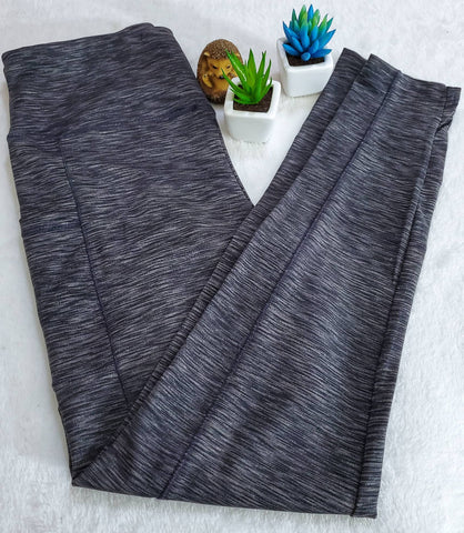 ShoSho Melange Athletic Leggings - Charcoal