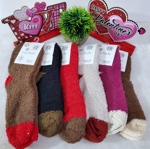 Cozy Soft Solid Socks - Assorted