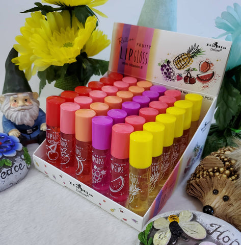 Roll On Fruity Lip Gloss - Assorted