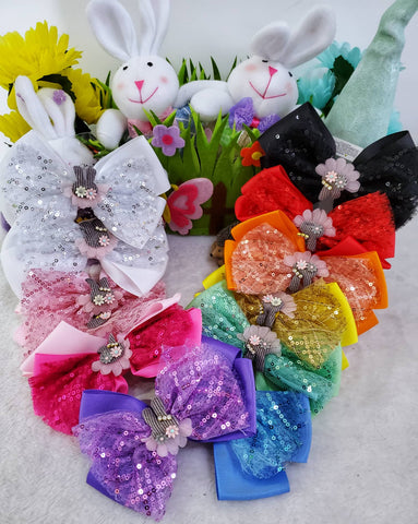 Bunnies & Bling Hair Bows - Assorted