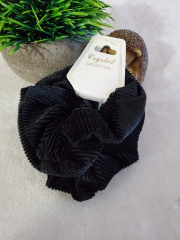 Corduroy Scrunchie Set - Black