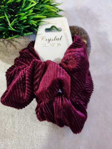 Corduroy Scrunchie Set - Wine