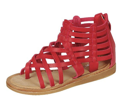 Strappy Gladiator Sandals - Red