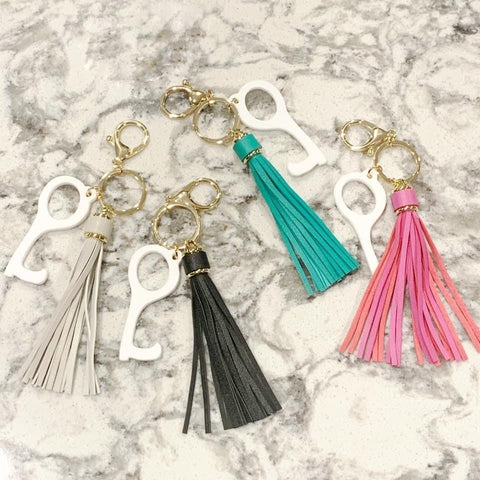 Touchless Tassel Keychains - Assorted