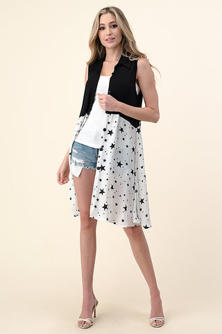 Blumin Sleeveless Colorblock Tunic Blouse - Star