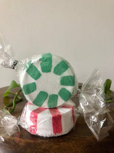 Peppermint 'Candy' Bath Bombs