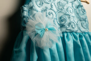 Blue Embroidered Frock
