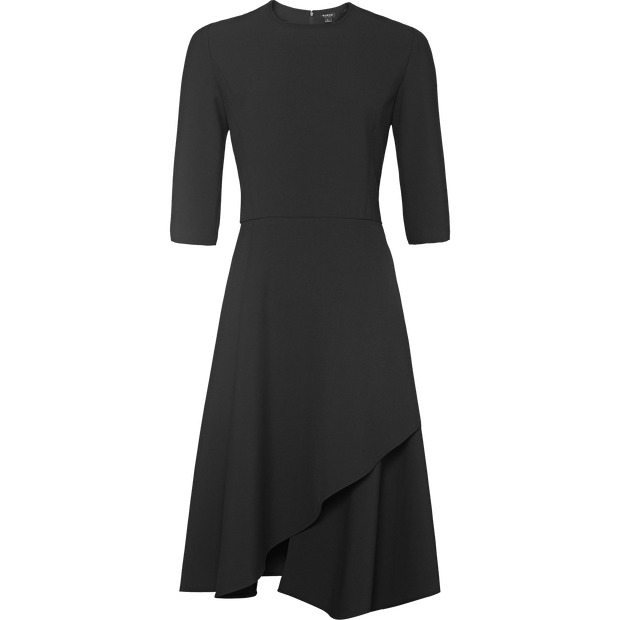 Black stretch-twill-dress