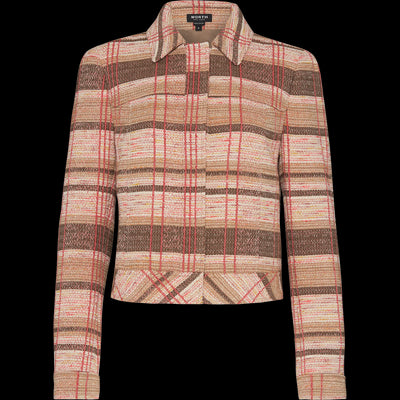 Brown yarn-dyed-plaid-tweed-jacket