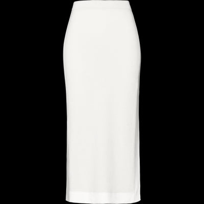 White border-knit-pencil-skirt