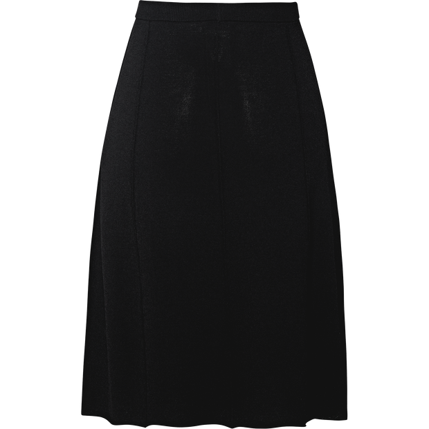 Black knit-fit-and-flare-skirt