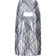 Pattern sequin-plaid-pencil-skirt