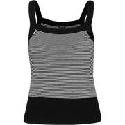 Black and White square-neck-knit-camisole