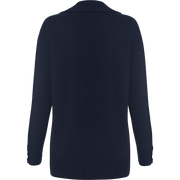 Blue wool-cashmere-mixed-stitch-cardigan