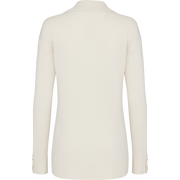 White wool-cashmere-mixed-stitch-cardigan