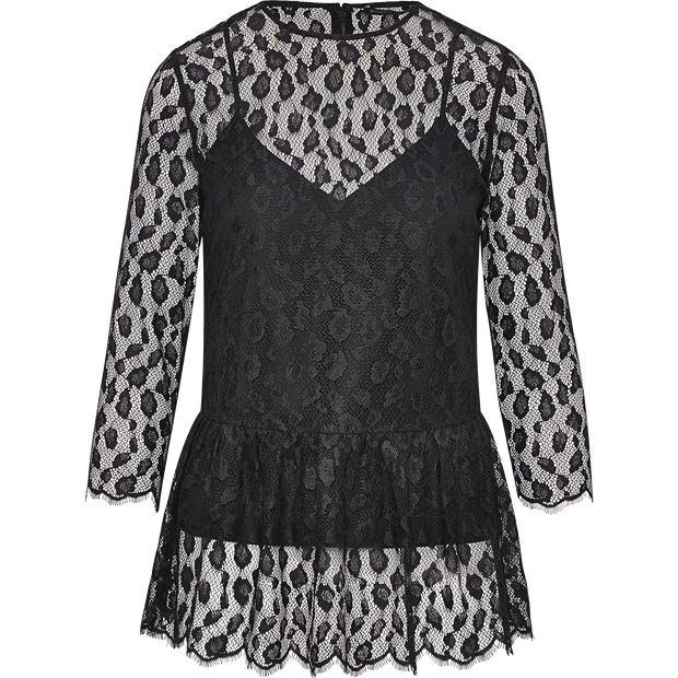 Midnight 00 Peplum Lacey Blouse Blouses & Shirts Worth New York Worth Collection