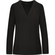 Worth New York Black Crepe Karna Blouse ${description} $398.00 Available in: Color Black Size XS