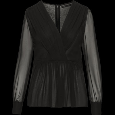 Ava Blouse-Blouses & Shirts-Worth New York-Midnight-0-Worth Collection