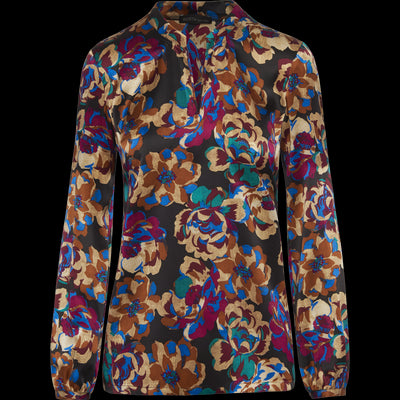 Abstract Floral 00 Pauline Blouse Blouses & Shirts Worth New York Worth Collection