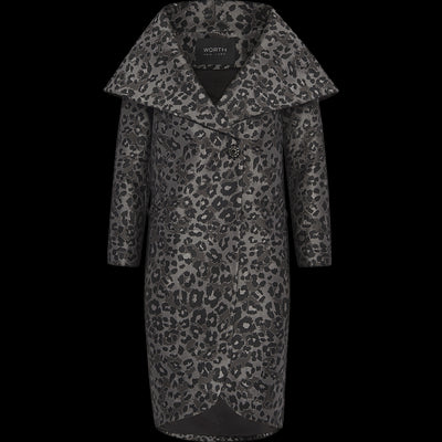 Animal Print XS Claire Coat Coats Worth New York Worth Collection