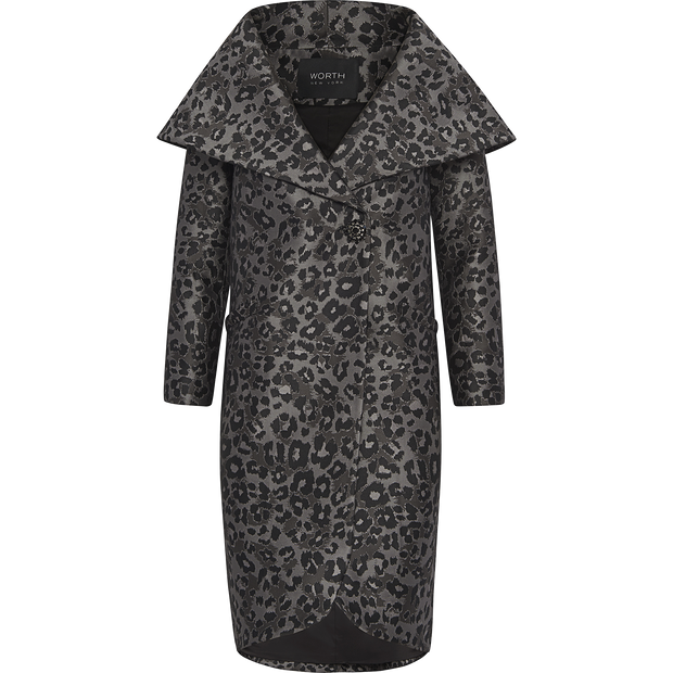 Claire Coat-Coats-Worth New York-Animal Print-XS-Worth Collection